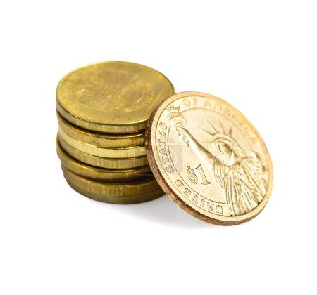 Photo pour Taux de change. Maintenant 70 roubles russes pour 1 dollar américain - image libre de droit