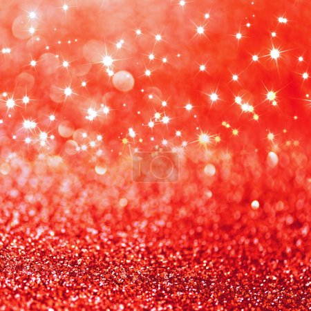 Photo pour Fond rouge paillettes défocalisées avec espace de copie - image libre de droit