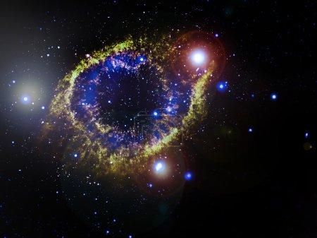 Photo pour Nébuleuse Helix (NGC 7293), nébuleuse planétaire située à 700 années-lumière. Éléments de cette image fournis par la NASA - image libre de droit