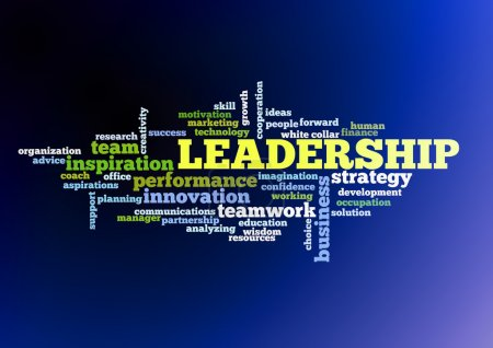 Photo for Leadership conceptual text word cloud - Royalty Free Image