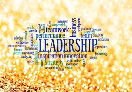 Leadership concept word cloud