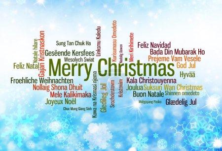 Photo pour Typographie de Noël : Joyeux Noël écrit en plusieurs langues - image libre de droit