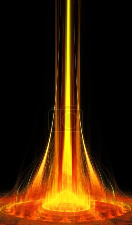 fractal illustration of a fiery portal nights