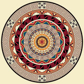 Mandala decoration. Hand drawn  style decor for coloring book. Tribal ethnic floral mandala round pattern, doodle art for coloring page. Hand drawn geometric mandala background