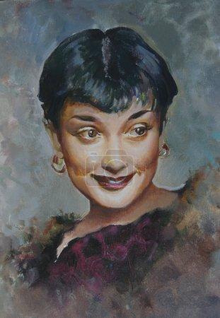 Портрет живопись Одри Хепберн
