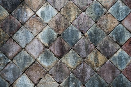 Photo for Background stone pavement. Stone path, tightly packed stone. - Royalty Free Image