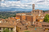 Perugia - a view of the old town and the Basilica di San Domenico
