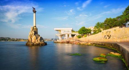 Monument to flooded ships in Sevastopol,