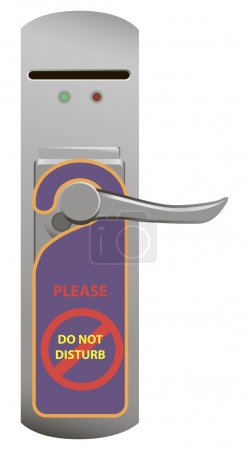Illustration for Door handle with electric lock requested. Vector illustration. - Royalty Free Image