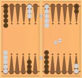 Starting position in the game of backgammon