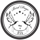 Bird Day - May 4 - celebrated in the United States Vector illustration