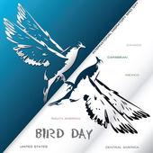 Poster International Migratory Bird Day Vector illustration