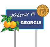 Dopravní značka Welcome Gruzii