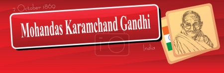 Banner Mohandas Karamchand Gandhi