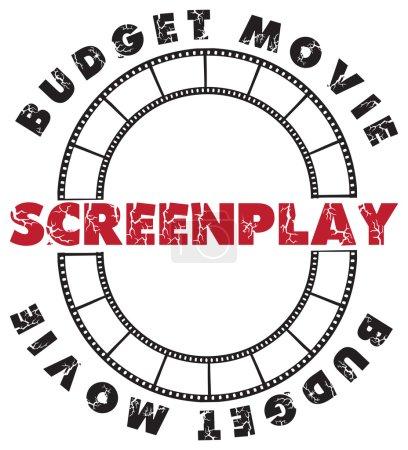 Symbolic scenario - the stamp imprint for a script...
