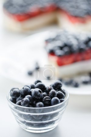 Fresh blueberries and blueberry pie.