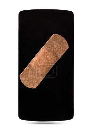 Smartphone healed with bandaid