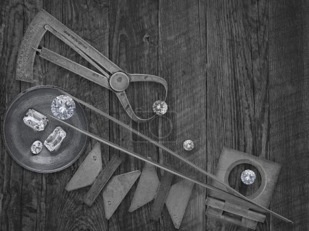 Vintage tools and diamonds