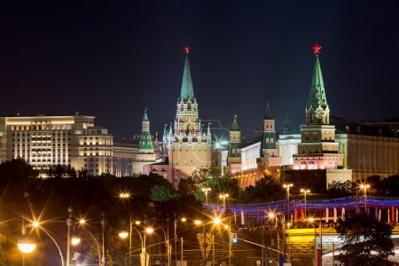 Moscow Kremlin in night. Russia