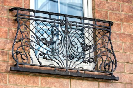 A decorative balcony