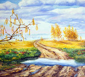 Landscape with four seasons.