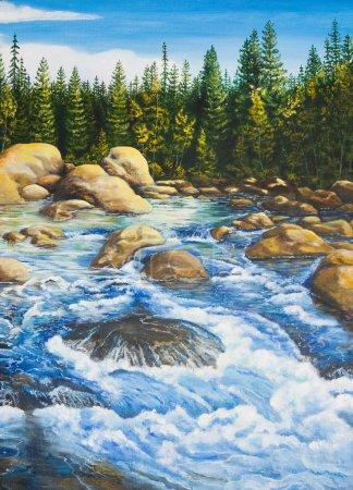 Photo pour Peinture à l'huile sur toile. - image libre de droit