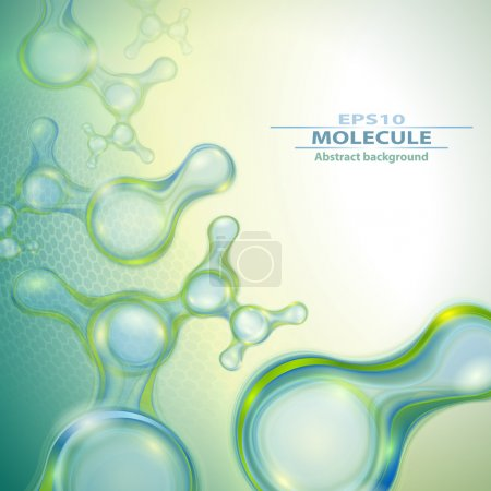 Illustration for Molecules abstract background - Royalty Free Image