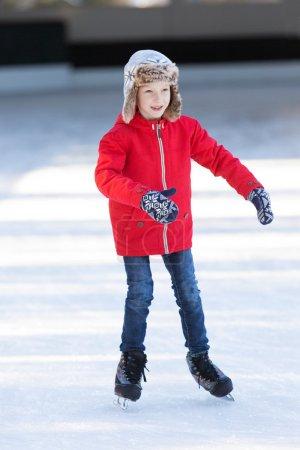kid ice skating