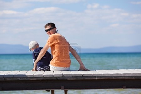 Photo for Family of two at the dock - Royalty Free Image