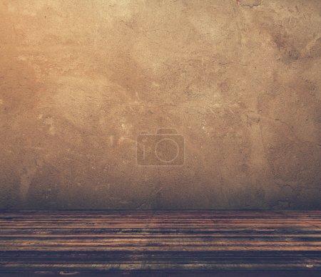 Foto de Antigua sala grungy, filtrado retro, estilo instagram - Imagen libre de derechos