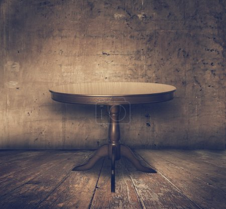 Photo for Antique table in old grunge interior, retro filtered, instagram style - Royalty Free Image