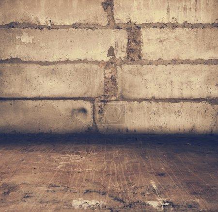Photo pour Vieux sale intérieur, rétro filtré, instagram style - image libre de droit