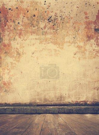 grungy interior, retro filtered,