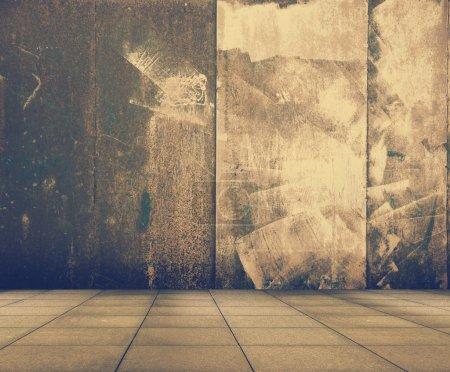 Photo pour Ancien intérieur métallique de grunge, film rétro filtré, instagram styl - image libre de droit