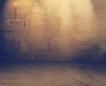grungy cement interior