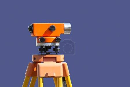 survey equipment theodolite on a tripod