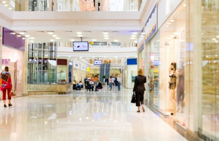 Shopping hall with people