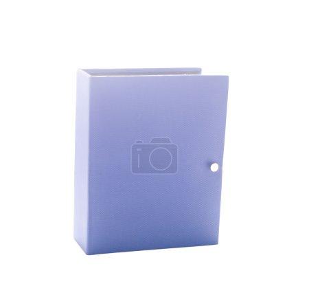 Blue photo album isolated on white