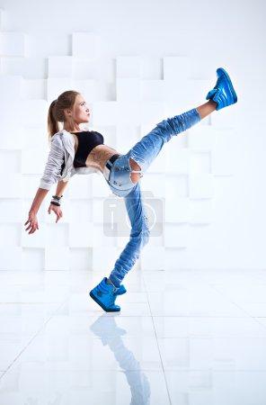 Woman modern dancer