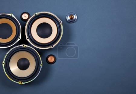 Photo for Audio Sound Speakers Collection Set - Royalty Free Image