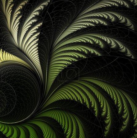 Photo for Leaf of fern, fractal. Computer generated fractal artwork for design. - Royalty Free Image