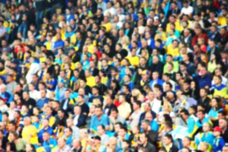 Blurred crowd of spectators