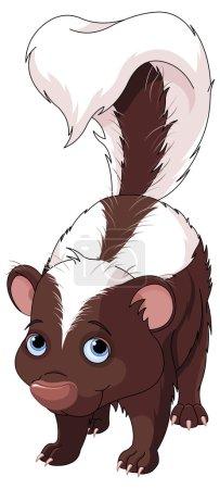 Very cute skunk