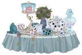 Wonderland Tea Party table