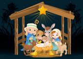 Christmas nativity scene with holy family