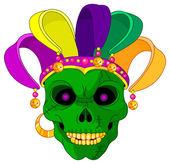 Cartoon Mardi Gras jester