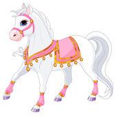 Beautiful white royal horse