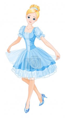 Cinderella wearing crystal slippers