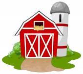 Illustration of a casual farm Vector illustration
