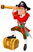 Serious cartoon pirate